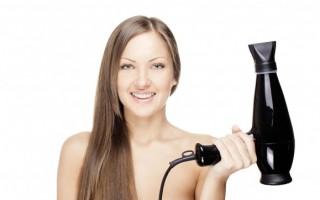 Как воздействует горячий фен на длинные волосы