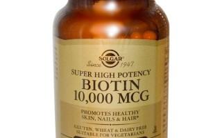 Клинический эффект биотина на пряди: зачем необходим витамин?