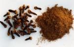 Основные составляющие гвоздичного масла