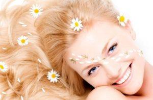 Осветление волос ромашкой, глицерином и лимоном